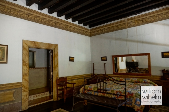 John Huston's bedroom