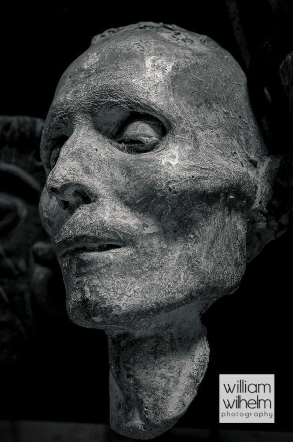Unknown workers death mask