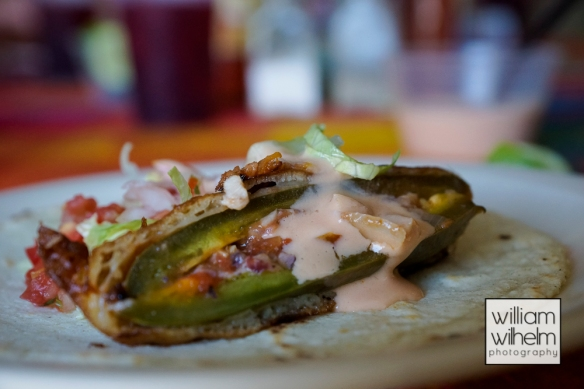 Fried jalepeno filled with seafood