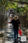 One of the little suspension bridges
